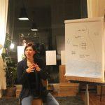 Anna Kauert hält einen Vortag beim Verein Über den Tellerrand